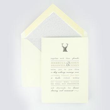 Boughton Letterpress Wedding Invitation