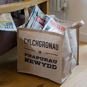 Welsh Magazine/Newspaper Bag