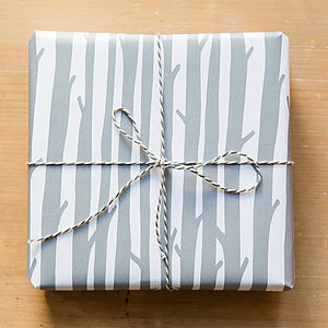 'Woods' Gift Wrap   Four Folded Sheets - wedding cards & wrap