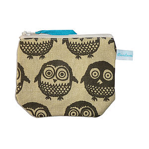 Too Wit Too Woo Little Coin Purse Brown