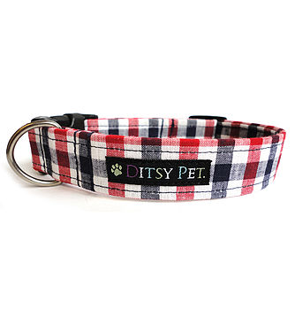 Rupert Checked Dog Collar