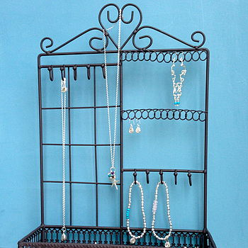 Dark Brown Heart Jewellery Rack