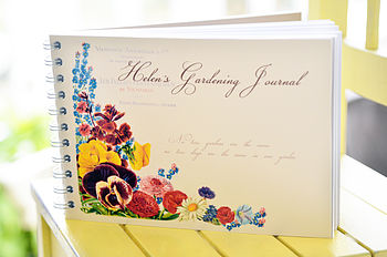 Personalised Vintage Style Gardening Journal