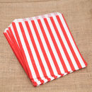 red and white stripe bags