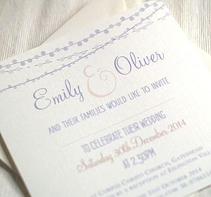 'Celebrating Love' Wedding Invitations - invitations