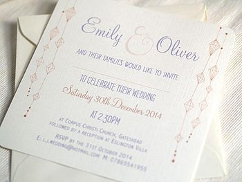 'Hanging Lanterns' Wedding Invitations