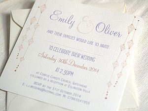 'Hanging Lanterns' Wedding Invitations - wedding stationery