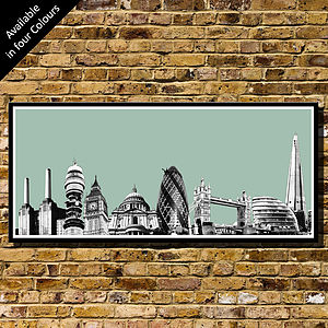 London Skyline Collage   Art Print - posters & prints