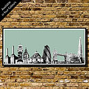 London Skyline Collage   Art Print