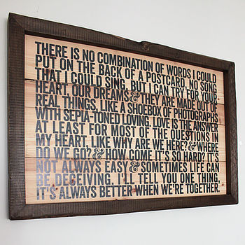Personalised Reclaimed Wood Artwork