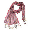 Salmon Pink Ladies Woven Scarf Nine Colours