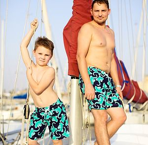 Mens Jade Gecko Swimshorts - shorts