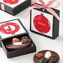 Chocolate Initial Bauble Decoration