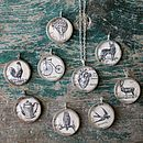 Personalised Vintage Illustration Necklace