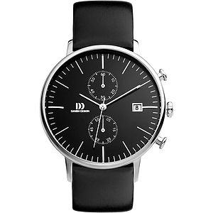 Danish Design Leather Strap Watch - men's accessories