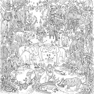 Jungle Safari Colouring In Poster