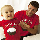 'Big Pud Little Pud' Christmas T Shirt Set