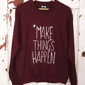 Make Things Happen Jumper - jumpers & cardigans