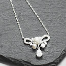 Matching Dainty Pearl and Crystal Necklace