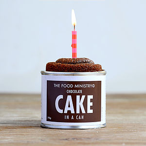 Chocolate Cake In A Can - 30th birthday gifts