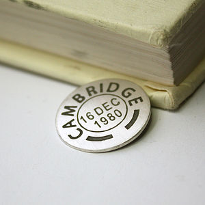 Personalised Postmark Golf Ball Marker