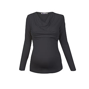 Cowl Neck Maternity Top - tops & t-shirts