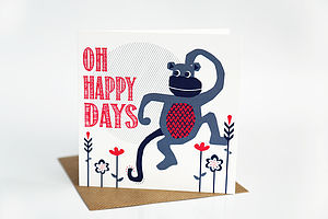 Oh Happy Days Card - new job cards