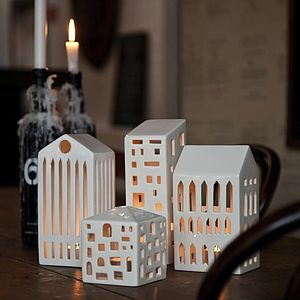 Urbania Tea Light Houses - christmas lights