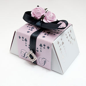 Ten Mini Roses Chocolate Wedding Favours