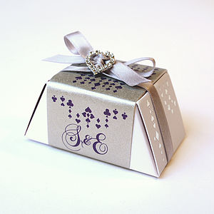 Fairy Tale Gourmet Chocolate Sparkling Wedding Favours - edible favours