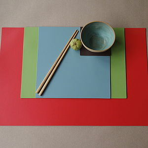 Set Of Large Leather Placemats - placemats & coasters