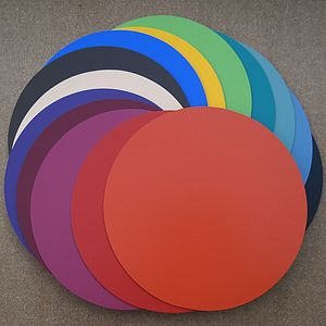 Set Of Six Round Leather Coasters - kitchen