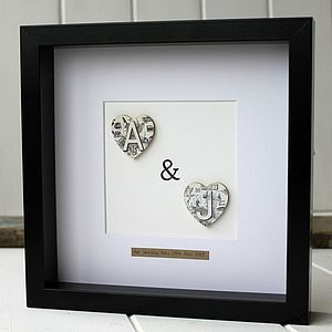Vintage Monogram Heart Picture