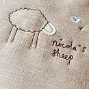 Natural 'Sheep' Stitched Picture - custom embroidery detail