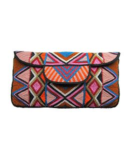 Aspiga Mzuri Beaded Clutch Bag