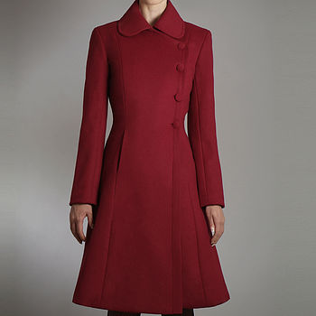 Pure Wool A Line Coat