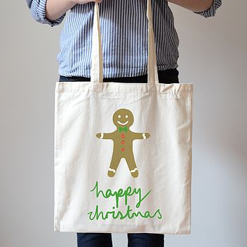 Personalised Gingerbread Man Canvas Bag