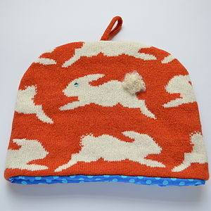 Bunny Rabbit Knitted Tea Cosy - tea & coffee cosies