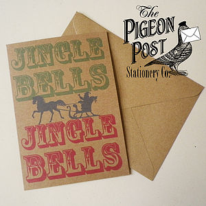 Christmas Jingle Bells Recycled Card - cards & wrap
