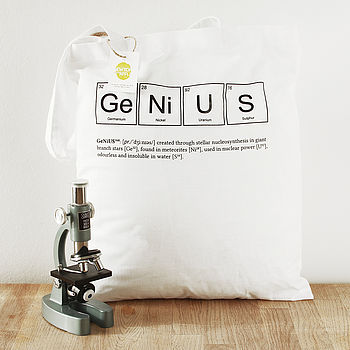 Genius Periodic Table Tote Bag