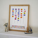 Personalised Naval Signal Flags Print
