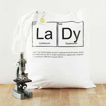 Lady Periodic Table Tote Bag