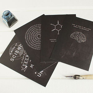 Chalkboard Science Theme Notecards Set