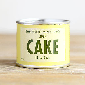Lemon Cake In A Can - secret santa gifts