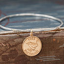 Lucky Gold Coin Bangle