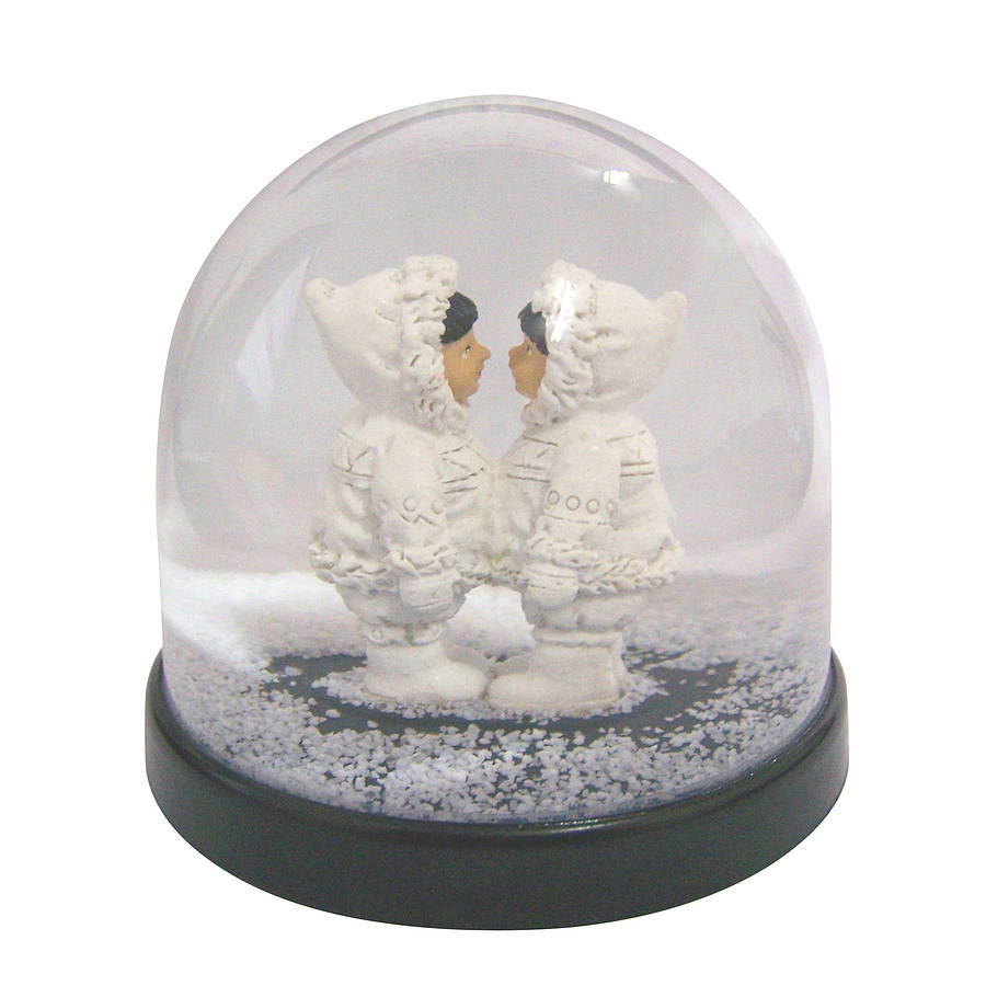 girls eskimo snow globe by lime lace. Black Bedroom Furniture Sets. Home Design Ideas