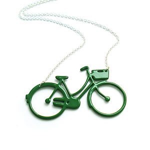 Women's Bicycle Necklace - gifts for teenagers