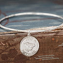 Lucky Silver Coin Bangle