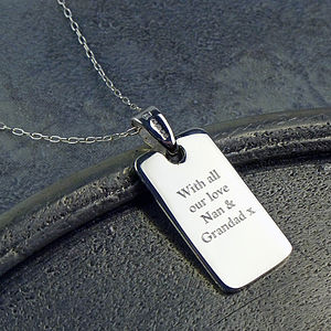 Small Silver Dog Tag - necklaces & pendants