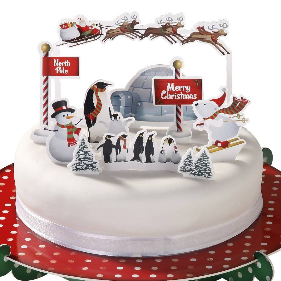 north pole christmas cake toppers by bunting & barrow ...